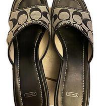 Coach Wedge Sandals 8.5 Photo