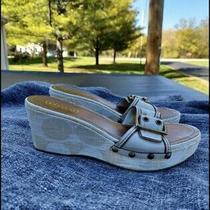 Coach Wedge Slide Sandals Size 8.5 Photo