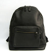 Coach West Backpack F23247 Men's Leather Backpack Black Bf519923 Photo