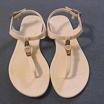Coach White Jelly Sandals With Charm Buckle Piccadilly Size 5 M Euc Photo