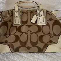 Coach White Leather Handbag Photo