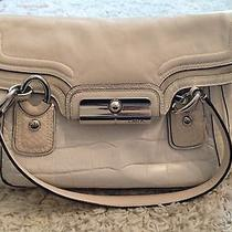Coach White Leather Satchel Bag Photo