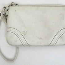Coach White Leather Small Wristlet Wallet Purse Photo