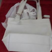 Coach White Leather Tote Handbag or Purse(js) Photo
