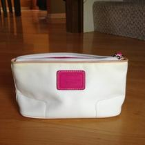 Coach White & Pink Cosmetic Bag Photo