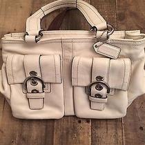 Coach White Satchel Handbag Photo