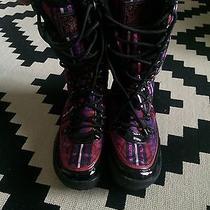 Coach Winter Lace Up Plaid Boots Cold Weather Designer 8.5 Photo