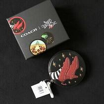 Coach Wizard of Oz Round Black Coin Purse Case Logo Nwt Box Limited Ed New Photo