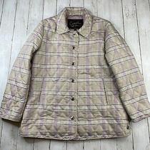 Coach Womans Multicolor Plaid Nylon/polyester  Button Up Jacket Size L R1 Photo