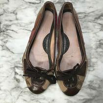 Coach Woman's Size 7.5 Multi Texture Brown Patch Jasmine Patchwork Ballet Flats Photo