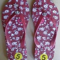 Coach Women Abbigail Floral Flip Flops Size 5 New W/o Box Photo