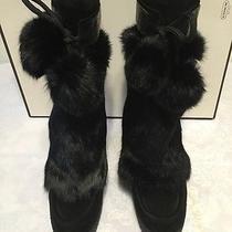 Coach Women Boots Rabbit Fur Photo
