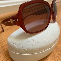 Coach Women Burgundy Red Sunglasses With Case Photo