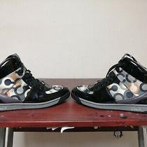Coach  Women High Top Shoes Sneakers Size 10  Natalee Patent Black Photo