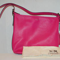 Coach Women Legacy Signature Fuchsia Leather Duffle Handbag Bag 19889 Nwt348 Photo