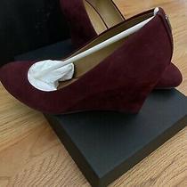 Coach Women Pumps Shoes Wine Suede Wedge Roni  Size 7 Photo