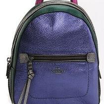 Coach Women's Andi Metallic Leather Backpack Multi Bag F49122-Qbl38 Photo