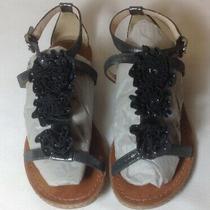 Coach Women's Black & Gray Leather  Sandals Size 5 1/2 Photo