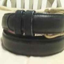 Coach Women's Black Leather Belt Sz 32/80  - Euc Photo