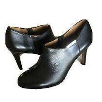 Coach Women's Black Leather Booties 4 Heel Side Zip U.s. Sz 8 M Photo