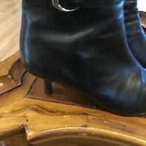 Coach Womens Black  Leather Boots Size 8 Photo
