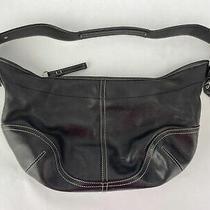 Coach Women's Black Medium Leather Soho Hobo Hand Bag Purse No. D3s-9464  Photo