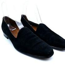 Coach Women's Black Suede Slip on Smoking Slippers Loafer Flats Size 8.5 Narrow Photo