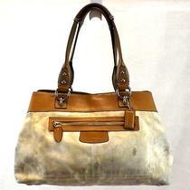 Coach Women's Brown Signature Handbag F15120 Shoulder Bag Purse Photo
