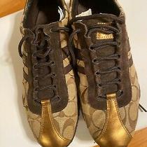 Coach Women's Brown/tan Sneakers Shoes- Sz 8 Photo