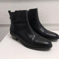 Coach Women's Carmen Black Classic Leather Ankle Bootie Boot - Size 7 B Photo
