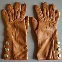 Coach Women's Chestnut Leather Gloves Photo