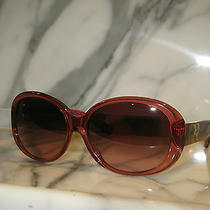 Coach Women's Clear Burgundy Sunglasses. New. Authentic. Hc8038 (L025 Gorgina). Photo