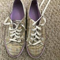 Coach Women's  Designer Sneakers Shoes Size 9.5 B Lace-Up Khaki Photo