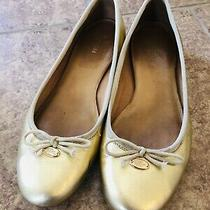 Coach Women's Flats Casual Slip on Shoes Ballet Flats Gold Nwob Tie 8 B Photo