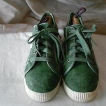 Coach Women's Green Suede Fashion Sneakers Size 7.5 Photo