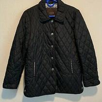 Coach Women's Insulated Quilted Snap Button Up Coat Jacket Size Xs Pockets Euc Photo