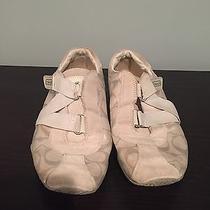 Coach Women's Jenney Sneakers White Velcro Suede Size 7.5 Photo