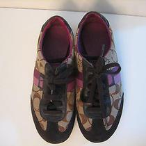 Coach Women's Joss Shoes Sneakers Brown/pink Sz. 6.5m  Photo