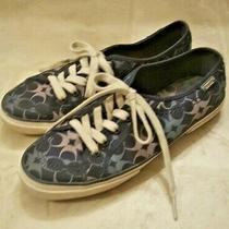 Coach Women's Kalyn Geo Signature 'C' Logo Sneakers Shoes Navy Size 7 Photo