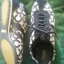 Coach Women's Kathleen Gray/black Logo Casual Lace Up Sneakers Size 10 Photo