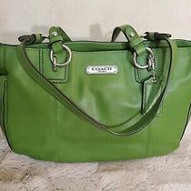 Coach Women's Leather Tote Handbag/ Green Photo