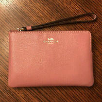 Coach Women's Leather Wristlet 58032 Rose/pink New Photo