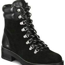 Coach Women's Lorren Boot Suede Lace-Up Moto Combat Boots Shoes Size 9 B Photo