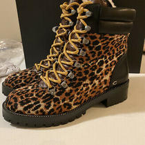 Coach Women's Lorren Lace-Up Booties Size 7.5 B Fabric and Leather Upper Photo