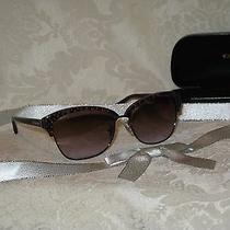 Coach Women's Magenta/ocelot Sunglasses With Case & Cloth. New. Hc7024. Photo