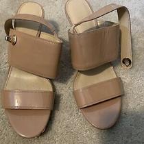 Coach Women's Marla Patent Open Toe Slingback Sandals Size 9 Photo