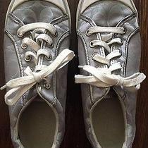 Coach Women's Metallic Gray Sneakers Size 8 Photo