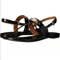 Coach Women's Patent Leather Caterine Black Sandals Size 10 Photo