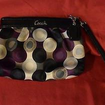 Coach Women's Purple Silk Circle Design Wristlet   No Reserve Photo
