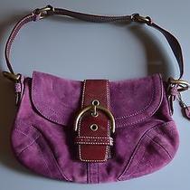 Coach Women's Purple Suede Handbag Photo